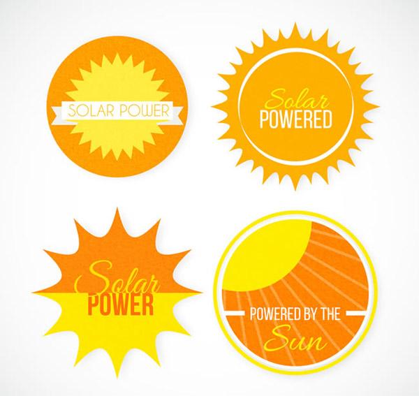 太阳能标签矢量_素材中国sccnn.com