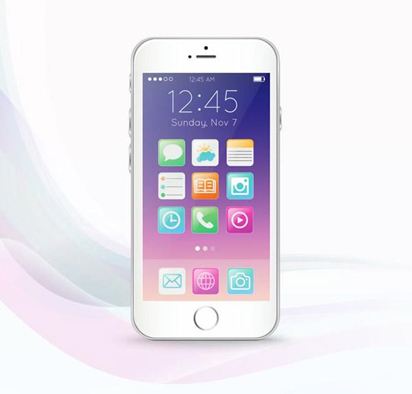 白色手机矢量