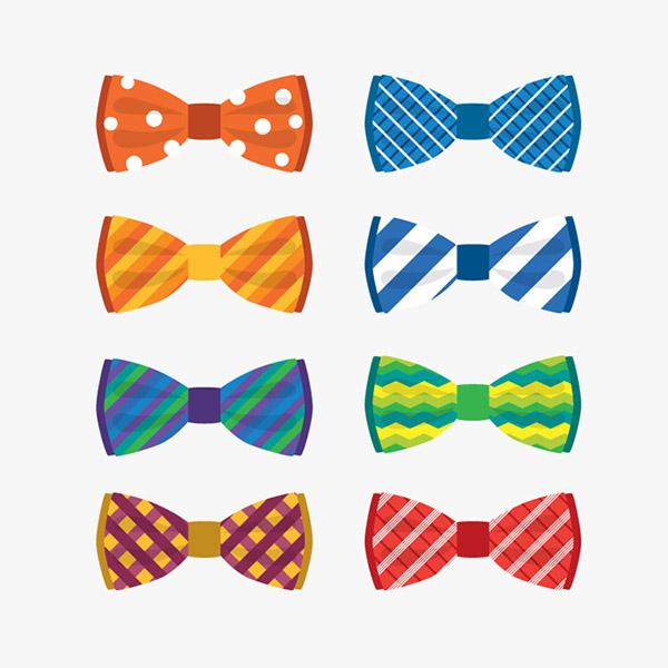 0 点 关键词: 彩色蝴蝶结领结矢量素材,水玉点,条纹,蝴蝶结,领结