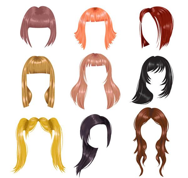 彩色女子发型