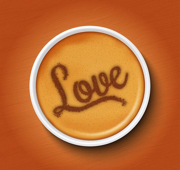 矢量饮品所需点数: 0 点 关键词: 花式咖啡俯视图矢量素材,桌子,木纹