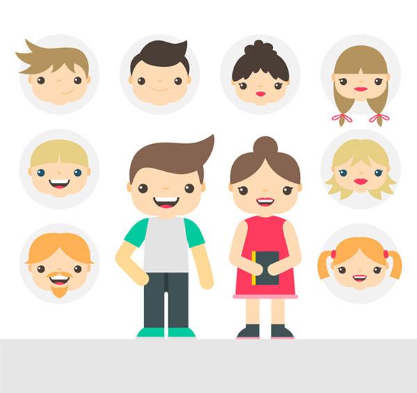 卡通人物和头像_素材中国sccnn.com