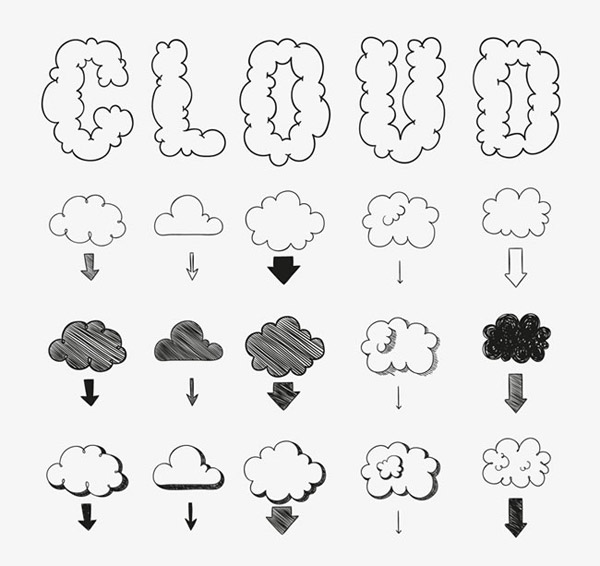 手绘云朵设计