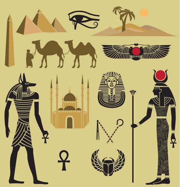 卡通埃及元素图标图片