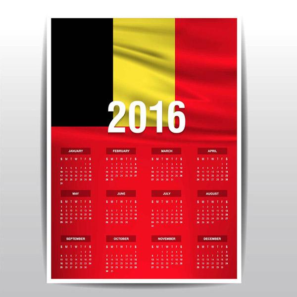 红色日历矢量