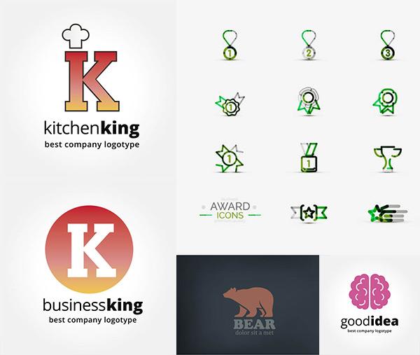 设计素材,创意设计,标志设计,logo设计,抽象,几何,图形,图案,北极熊