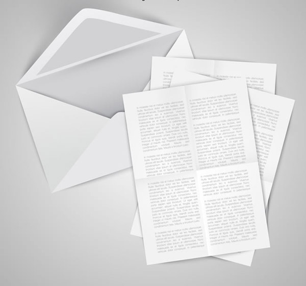 信封和信件矢量图片