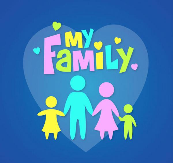 爱心,家,孩子,父母,人物,家庭,牵手,my,family,矢量图,ai格式 下载