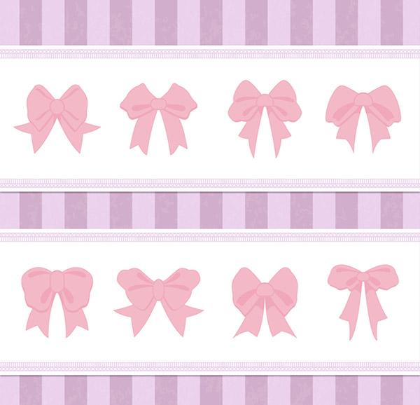 蝴蝶结装饰花边