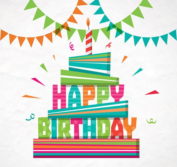 0 点 关键词: 彩色生日蛋糕贺卡矢量素材,蜡烛,生日快乐,彩色纸屑