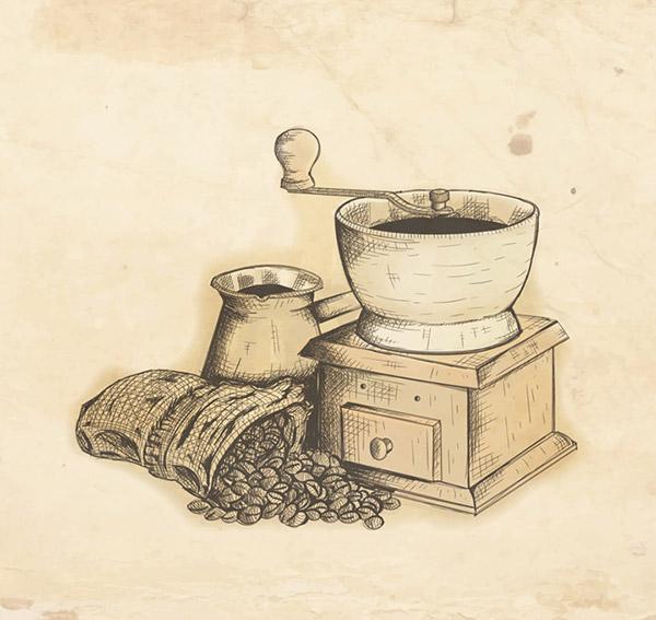 手绘研磨咖啡机