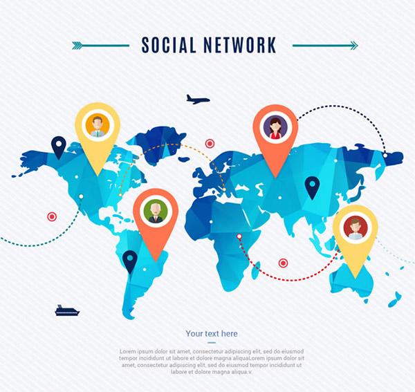 社交网络世界地图