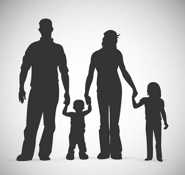 0 点 关键词: 四口之家剪影矢量素材下载,孩子,父母,牵手,家,家庭
