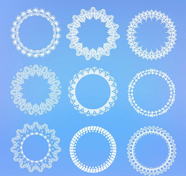 白色蕾丝圆环图片