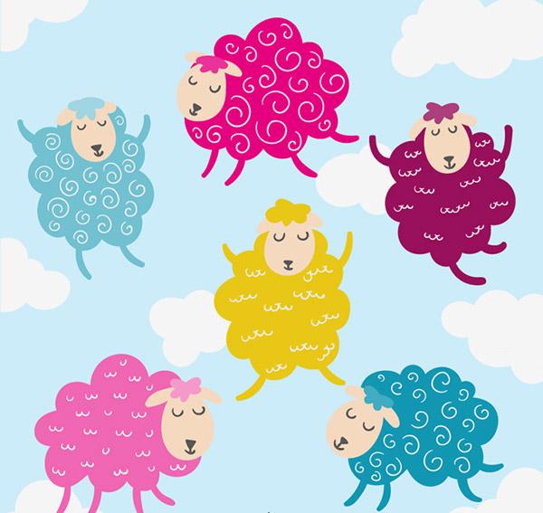 绵羊,云朵,天空