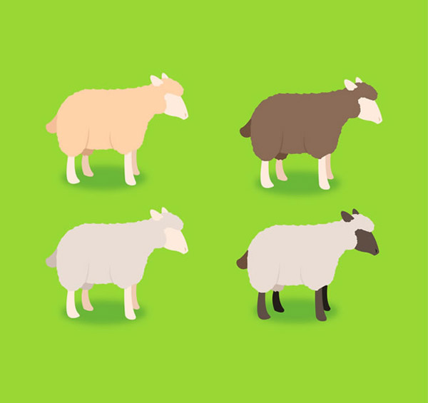 卡通绵羊矢量素材下载
