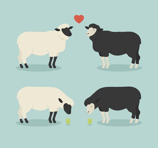 可爱绵羊卡通图片