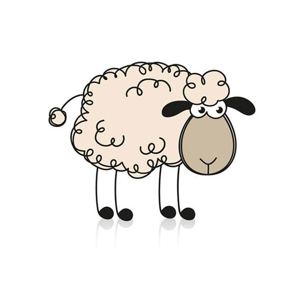 绵羊可爱卡通图片