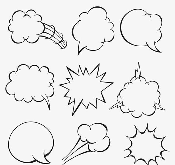 对话框,手绘,语言气泡