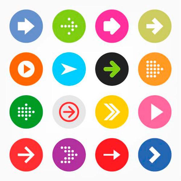 点 关键词: 时尚箭头图标设计矢量素材,箭头,方向,指示,网页按钮图标