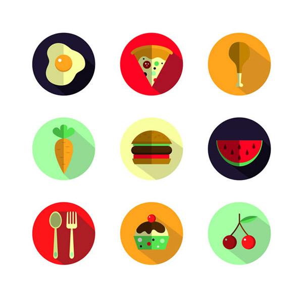 美味食物图标_素材中国sccnn.com
