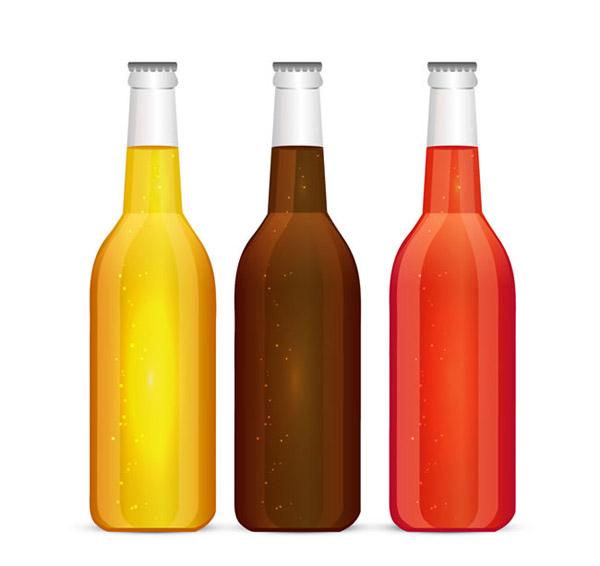 彩色瓶子简笔画