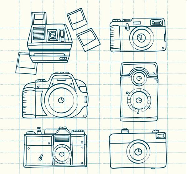 网格画手绘图片爱心