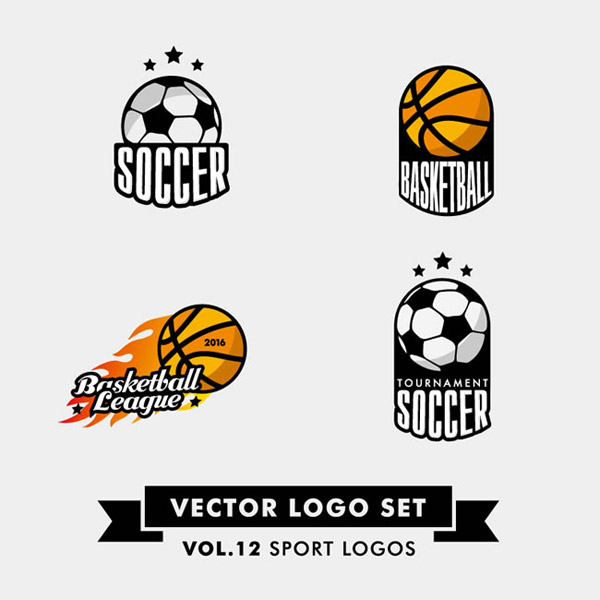 素材分类: 矢量logo图形所需点数: 0 点 关键词: 创意足球与篮球标志