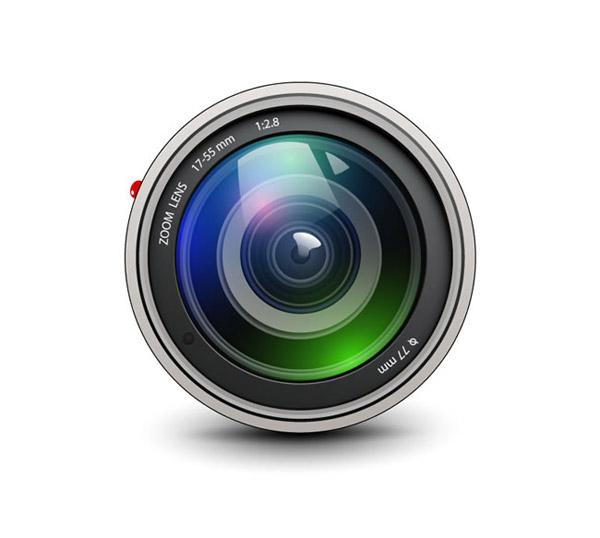 照相机镜头矢量