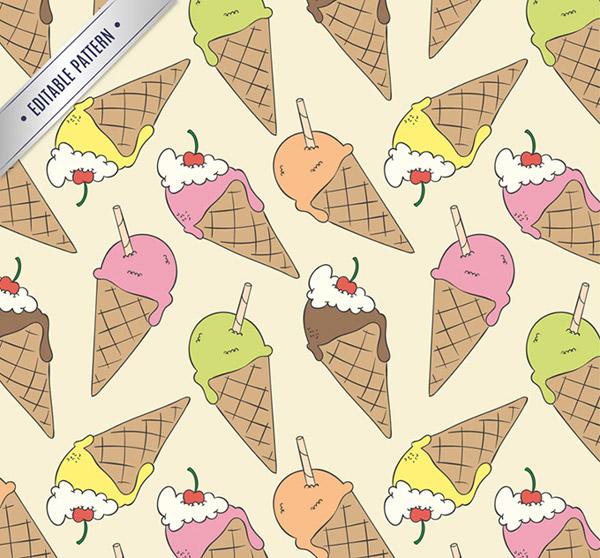 冰淇淋无缝背景_素材中国sccnn.com