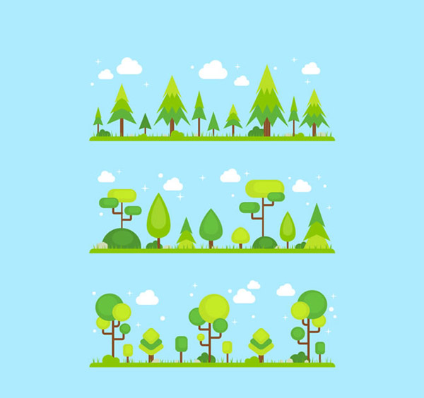 0 点 关键词: 绿色树木设计矢量素材下载,云朵,风景,草,树木,树林