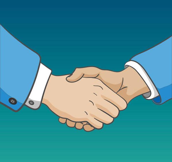 握手的手臂图片