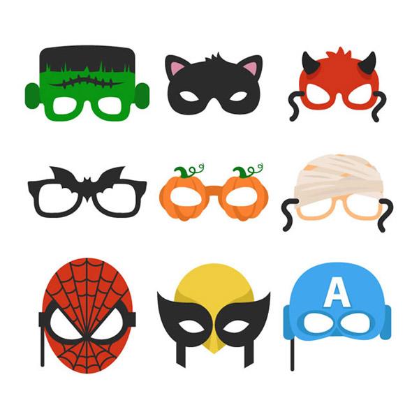 0 点 关键词: 万圣节面具矢量素材下载,科学怪人,黑猫,魔鬼,蝙蝠