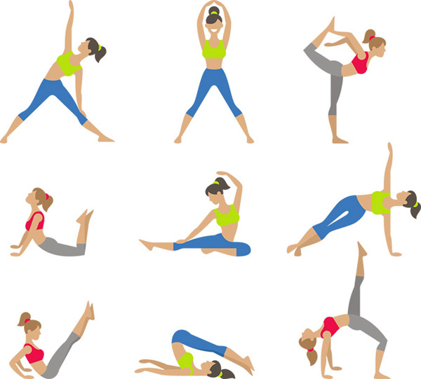 瑜伽女性动作