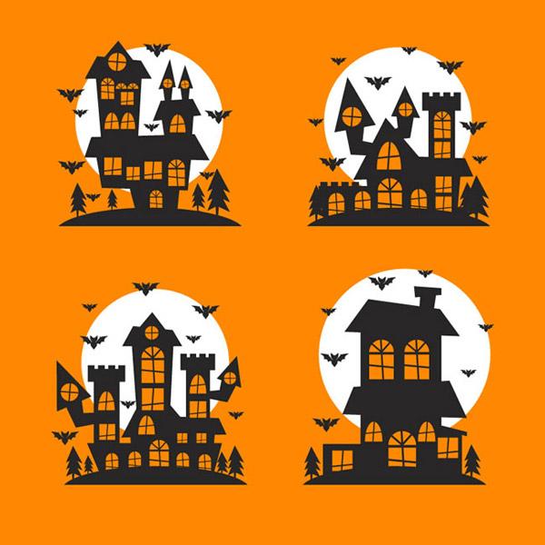 0 点 关键词: 万圣节城堡设计矢量素材下载,月亮,夜晚,万圣夜,城堡