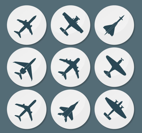 圆形飞机图标