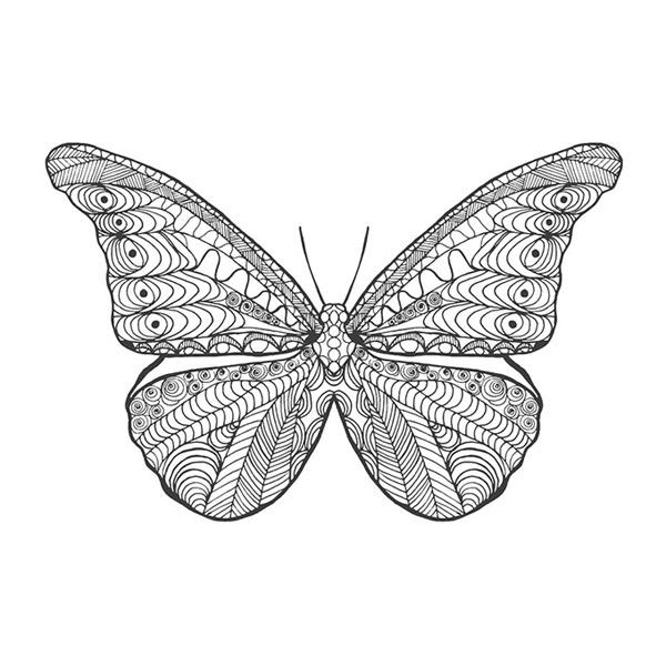 蝴蝶纹身图案