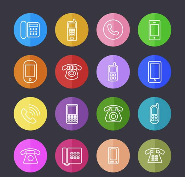 图标,扁平化,电话,手机,座机,矢量图,ai格式 下载文件特别说明:本站