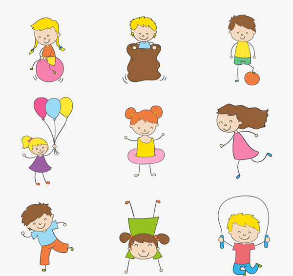 0 点 关键词: 彩绘玩耍儿童矢量素材,,孩子,儿童,倒立,跳绳,气球束
