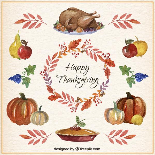 素材分类: 矢量节日其它所需点数: 0 点 关键词: 感恩节食物水彩绘画