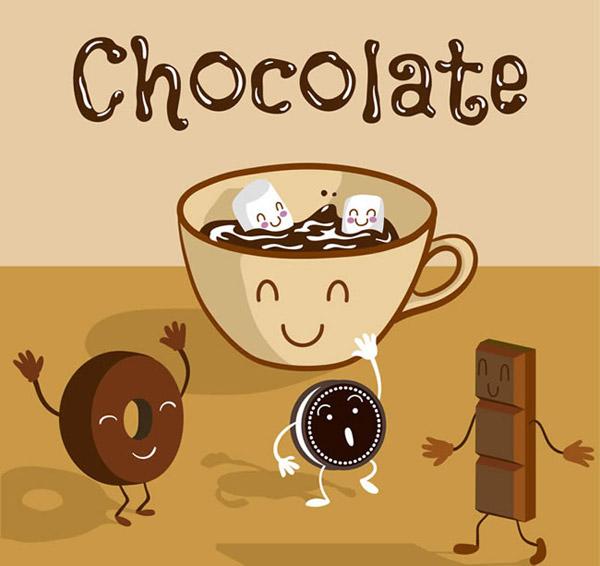 0 点 关键词: 巧克力插画矢量素材下载,巧克力,饮品,曲奇,热巧克力