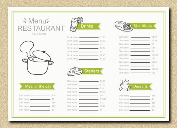 简洁餐厅菜单免费下载,菜单,菜谱,菜单设计,简洁,餐厅菜单,价格表,cd