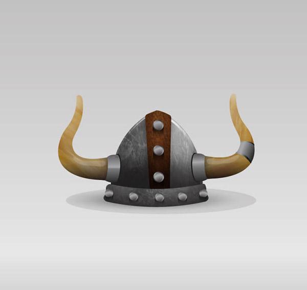 创意维京人头盔矢量素材下载
