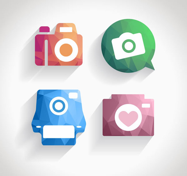 照相机app图标矢量素材下载