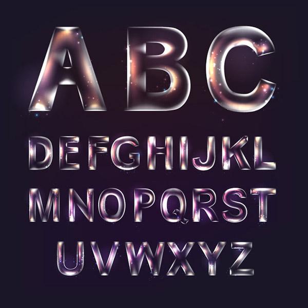 透明英文字母