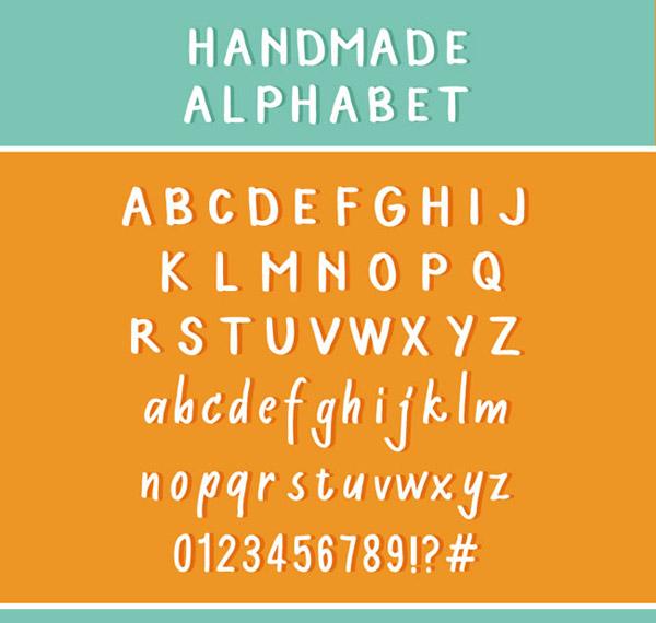 手写字母和数字