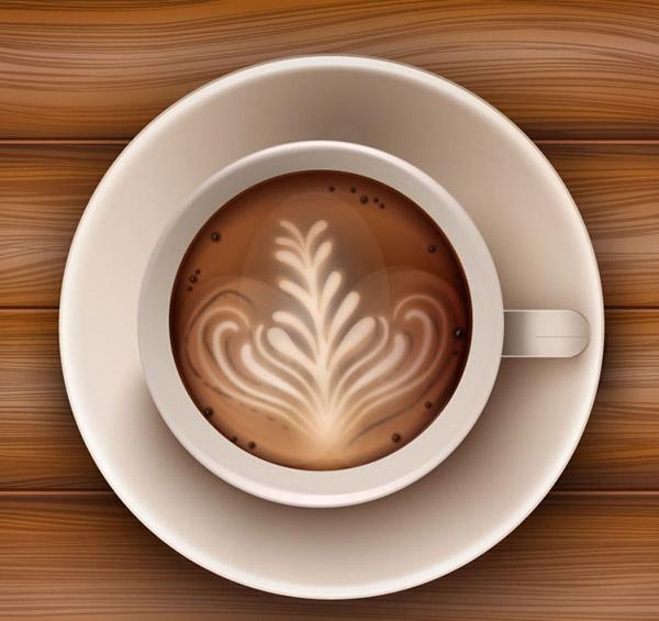 0 点 关键词: 卡布奇诺咖啡俯视图矢量素材下载,木纹,饮品,餐饮