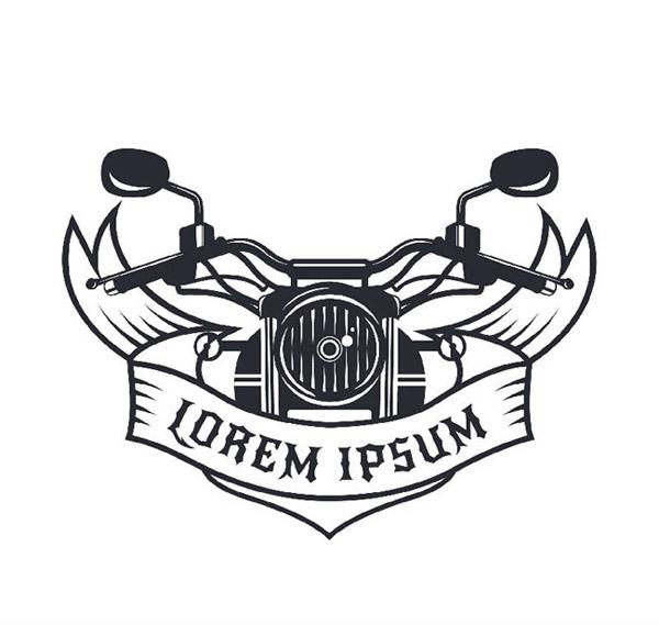 摩托车头标志