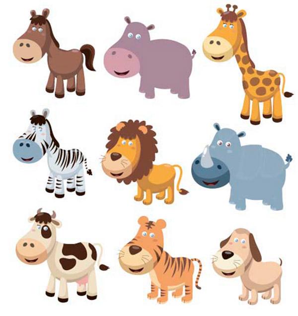 彩色卡通动物