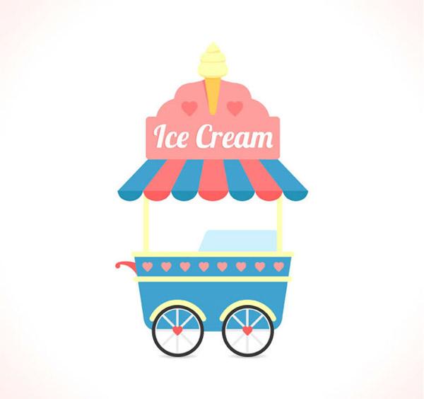 卡通冰淇淋车